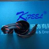 Cravate noire et rouge de piste avec le logo tissé