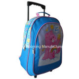 Artigos de papelaria escolar promocionais Gift Set Trolley Rolling Backpack Lunch Bag