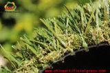 Темная пряжа Brown курчавая Landscaping циновка травы