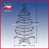 Rotierendes Christmas Tree mit Light String Colorful Ornaments