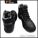 PU inyección tobillo Heavy-Duty zapatos con puntera de acero y suela media (SN5377)