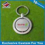 Trousseau de clés en métal de forme ronde avec le nom d'école