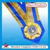 주문을 받아서 만들어진 주물 금 은 도금 요리사 금속 메달을 정지하십시오