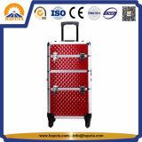 Caisse cosmétique en aluminium rouge de /Trolley /Makeup (HB-3312)