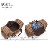 Equipaje ocasional de los bolsos que viajan de la lona retra portable de los bolsos de hombro de la manera