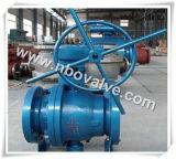 """Válvula de esfera de aço forjada de flutuação manual (300lb-4 """")"""