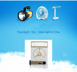 beweglicher Solar3in1 tischventilator Solar-Gleichstrom-Ventilator mit LED-Licht