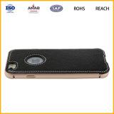 Caixa de couro ultra fina confidencial do telefone do plutônio da venda por atacado da etiqueta