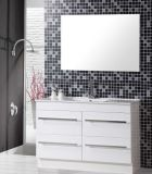 PVC simple de Floor Standing Bathroom Vanity avec Mirror