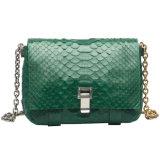 여자 뱀 피부 지갑 금속 사슬 어깨에 매는 가방