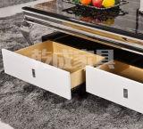 Tavolino da salotto moderno superiore di marmo bianco