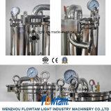 De hygiënische Filter van de Zak van de Filter van de Zak van Chmical van het Roestvrij staal Enige Vloeibare