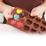 Molde de la fabricación de chocolate del silicón de la dimensión de una variable del corazón de la categoría alimenticia