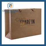 Gold Foil Hot Stamping Paper Bag mit pp. Rope (CMG-MAY-026)