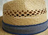 Шлем сторновки Fedora точной сторновки рафии ручной работы