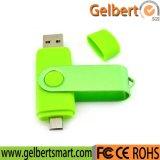 Movimentação feita sob encomenda do flash do USB do presente OTG do logotipo para o telefone móvel