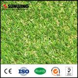 Césped artificial barato natural del jardín de la hierba de la recepción 25m m con el SGS