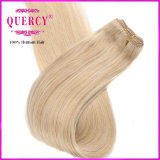 Light Blond Color 100% Virgem Humana Remy Hair Weft