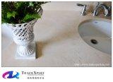 Controsoffitto di marmo color crema della Spagna per la parte superiore di vanità della stanza da bagno