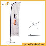 La clavette faite sur commande de fibre de verre de promotion d'événement marque des étalages de drapeaux
