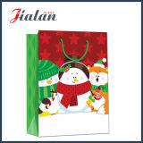 Glatter lamellierter Kunstdruckpapier-WeihnachtsSchneemann-Verpackungs-Geschenk-Papierbeutel