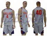 El reversible doble azul/blanco del acoplamiento embroma la ropa de deportes de Jersey del baloncesto