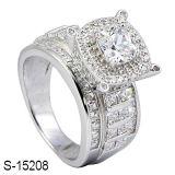 Anello di diamante d'imitazione dei monili Mirco che imposta anello d'argento 925