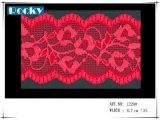 Lacet en nylon rose de Triat de garniture de lacet pour la robe de dames