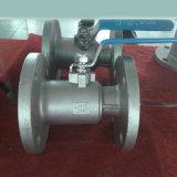 Una pieza de válvula de bola con bridas SS304 (Q41F)