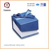 Cadeau de carton de forces de défense principale empaquetant la boîte de bijoux bleue