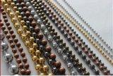 Rideau à chaînes perlé en métal de rideau en talon en métal