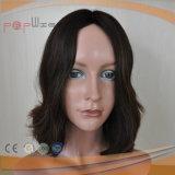 自然なカラー人間のRemyの毛の完全な手によって結ばれるレースの女性のかつら