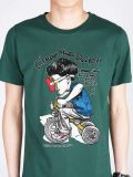 T-shirt du coton de carton des hommes estampés par mode drôle faite sur commande