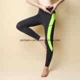 A cintura elevada enesgou o desgaste da ioga das caneleiras do exercício das calças da aptidão das mulheres
