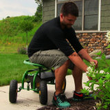 "Gardening Landscape Scooter 10 "" WheelsのためのTool Trayの圧延Work Seat"