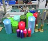 Vela movente decorativa do diodo emissor de luz do feltro de lubrificação do Natal com temporizador