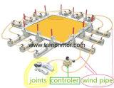 Tamprinter 기계를 기지개하는 압축 공기를 넣은 죔쇠 스크린 들것 메시