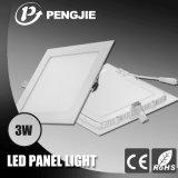 luz de painel do diodo emissor de luz 3W para a HOME com CE RoHS (quadrado)