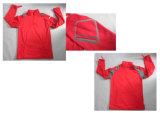 Rotes leichtes Vlies wasserdichte Breathable Softshell Umhüllung des Mens-Yj-1070