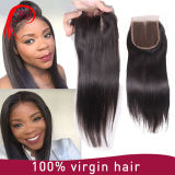 Hand superiore Tied Hair brasiliano 4X4 Lace Closure