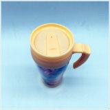 Taza de café plástica doble personalizada reutilizable de la taza de café de la pared