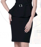 Elegant de calidad superior Slim Fit Ladies Summer Office Business Uniform Suit (2010-D2&B18&13)