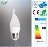 3000k 4W E27 LEDの蝋燭ランプはCE RoHSによって承認した
