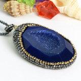 De hete Tegenhanger van het Agaat van het Kristal van de Juwelen van de Charme van de Verkoop met Venster Drusy