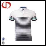 Chemises de polo rayées classiques élevées de modèle de Quallity pour les hommes