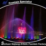 Fontana della camera a pioggia di film dell'acqua con il laser