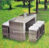 Jogo de alumínio da barra do Rattan do PE do jardim do pátio