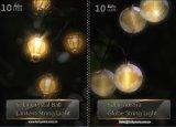 태양 수정 구슬 끈 빛 10 LEDs