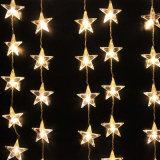 Luzes coloridas da corda da estrela da decoração do diodo emissor de luz do PVC Conectable