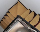Tapetes de área do tapete da escada da pilha da curvatura de Velcro